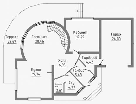 Комбинированный Дом В-120