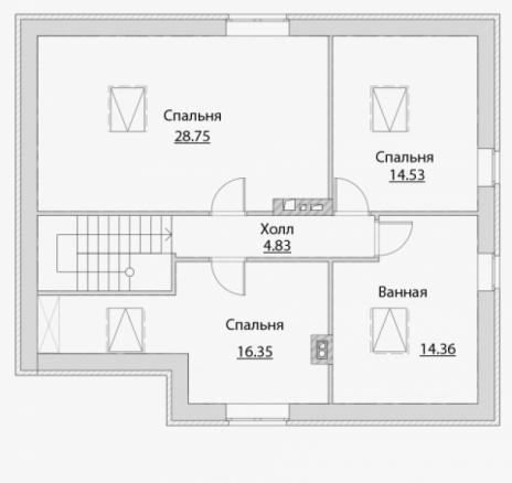 Дом из блоков A-160