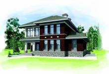 Дом из блоков Модерн