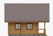Дом из оцилиндрованного бревна W-85