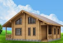 Дом из оцилиндрованного бревна W-150