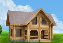 Дом из оцилиндрованного бревна W-178