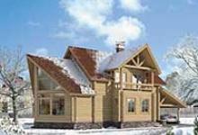 Деревянный дом J-148-1D