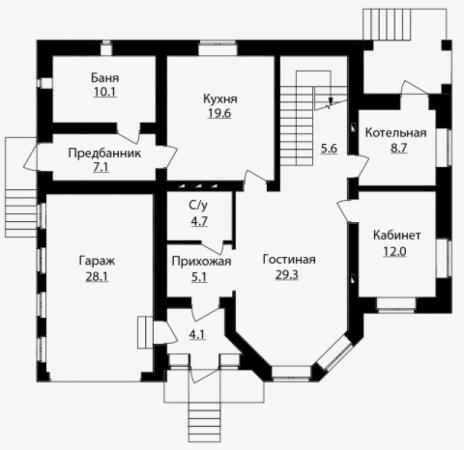 Дом из блоков A-214