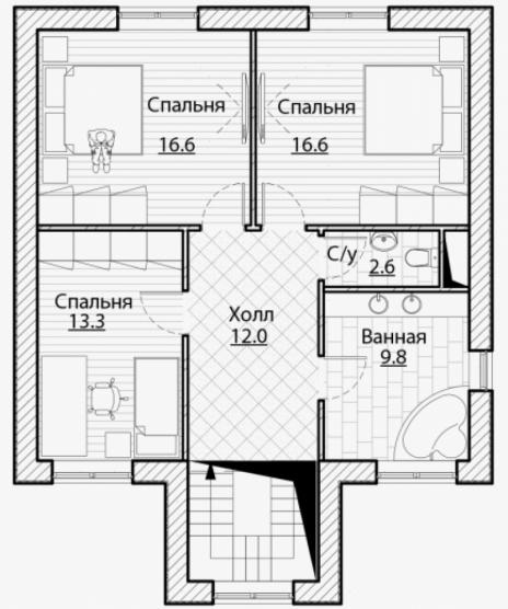 Дом из блоков A-148