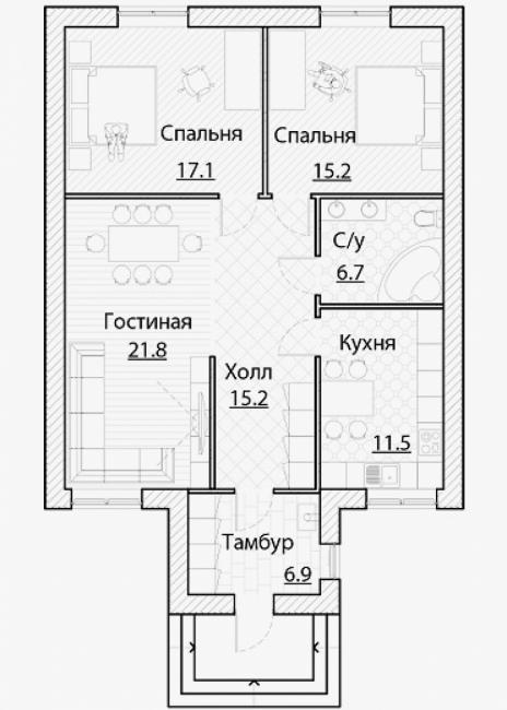 Дом из блоков A-94
