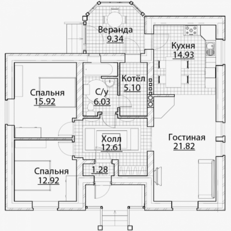 Дом из блоков A-91