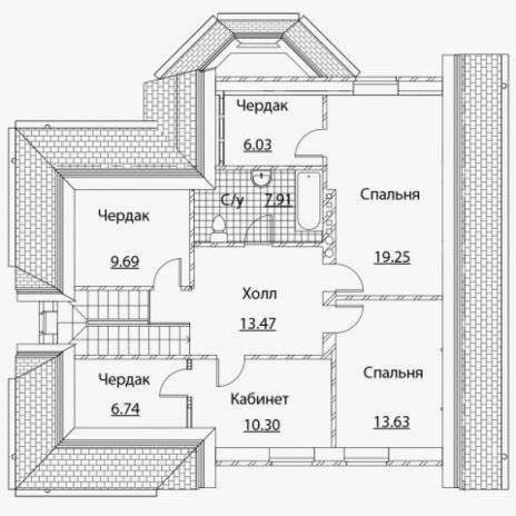 Дом из блоков A-161