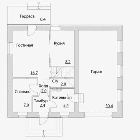 Дом из блоков A-115