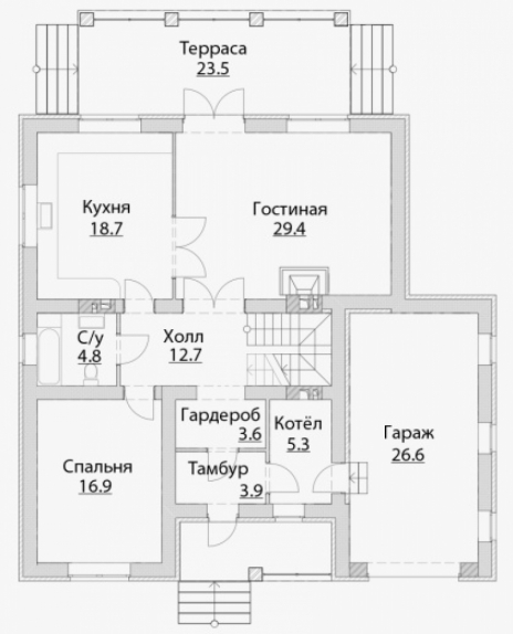 Дом из блоков A-215