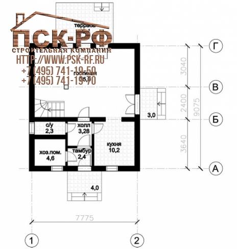 Каркасный дом 10-19