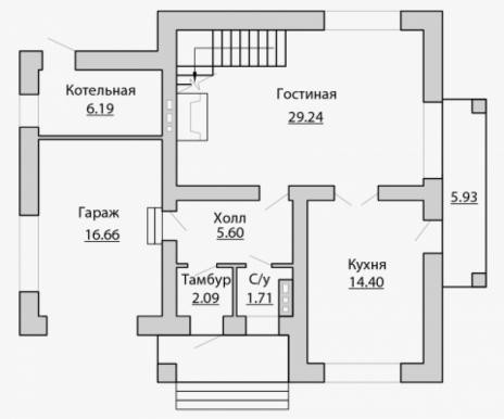 Дом из блоков A-173-1
