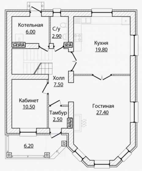 Дом из блоков A-152