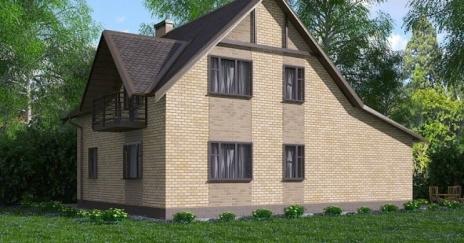 Дом из блоков A-163