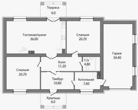 Дом из блоков A-146