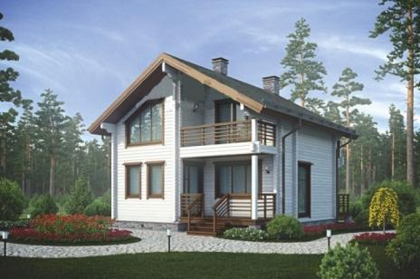 Дом из оцилиндрованного бревна 22-200