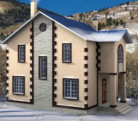 Дом из блоков Морозко