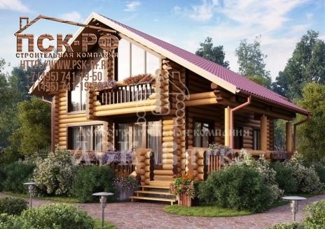 Дом из оцилиндрованного бревна Самшит