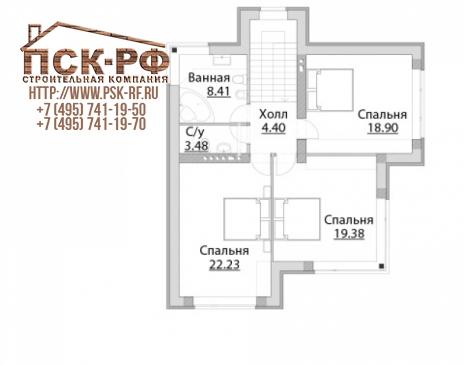 Дом из блоков C-228