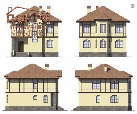 Дом из блоков Бажен