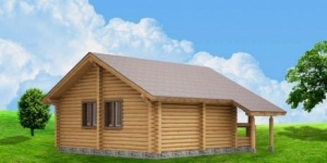Дом из оцилиндрованного бревна W-58