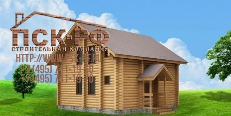 Дом из оцилиндрованного бревна W-114
