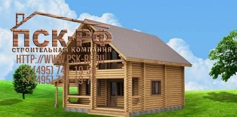 Дом из оцилиндрованного бревна W-137