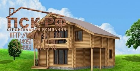 Дом из оцилиндрованного бревна W-151