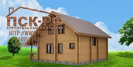 Дом из оцилиндрованного бревна W-166