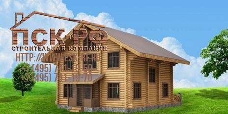 Дом из оцилиндрованного бревна W-212