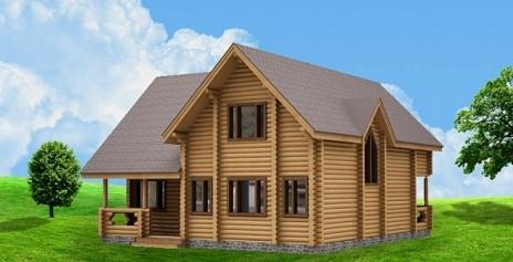 Дом из оцилиндрованного бревна W-219
