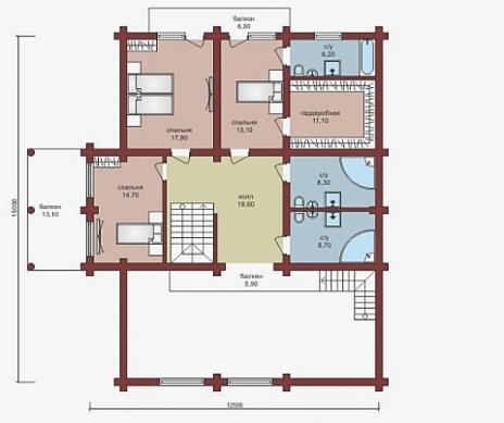 Дом из бруса W-429