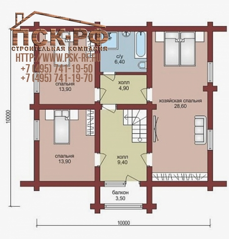 Дом из бруса W-163-1