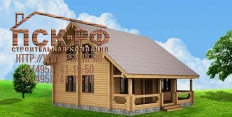 Дом из бруса W-166-1
