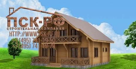 Дом из бруса W-182-1