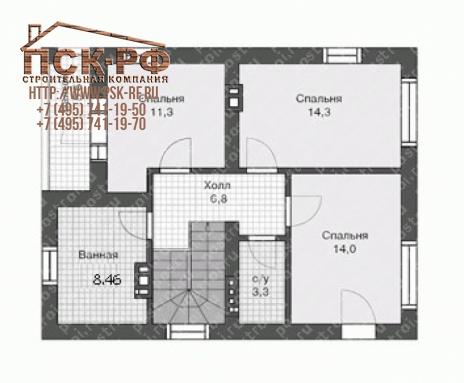 Дом из блоков U-117-1P
