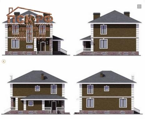 Дом из блоков Милослав