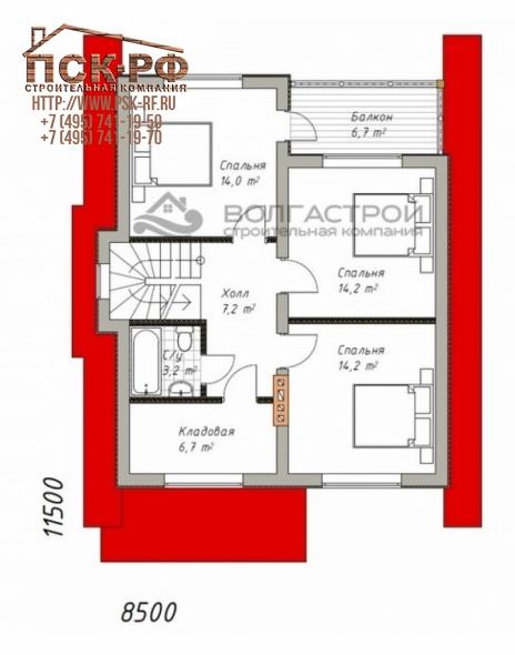 Каркасный дом КД 144