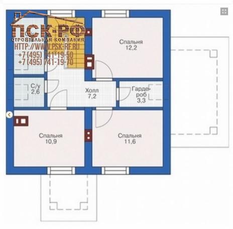 Комбинированный дом 55-40