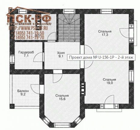Дом из блоков U-156-1P