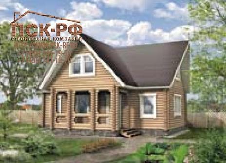Деревянный дом G-126-1D