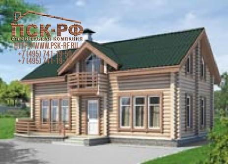 Деревянный дом I-123-1D