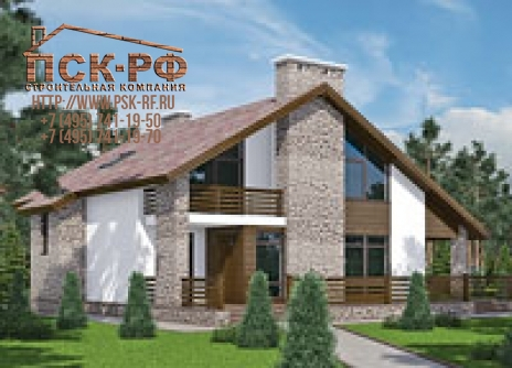 Дом из блоков L-255-1P