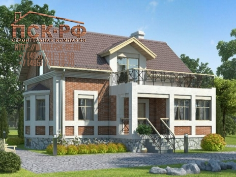 Дом кирпичный E143 1K