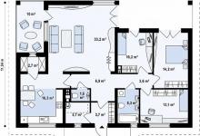 Дом из блоков Z185
