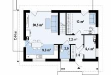 Дом из блоков Z225