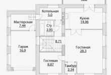 Дом из блоков A-165