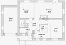 Дом из блоков A-205