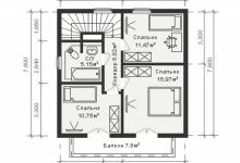 Каркасный дом 10-13