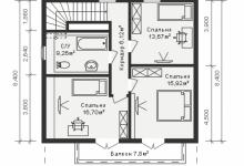 Каркасный дом 10-23